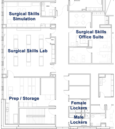 Surgical Skills Floor Plan