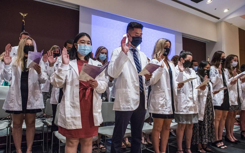 Class of Physician Assistants taking oath