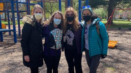 Medical Students at the Park for Student Day of Service