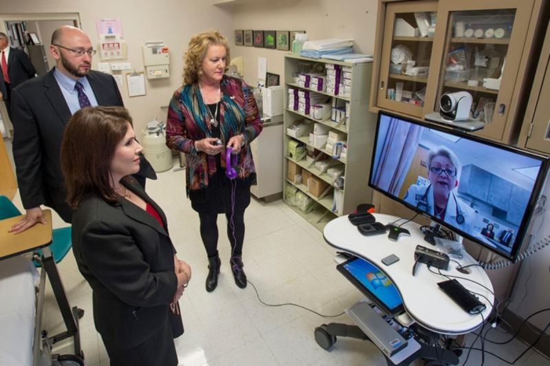 Lt. Governor Tours 'Amazing' Telehealth Services at Franklin County Hospital